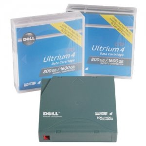 Dell - Certified Pre-Owned Tape Media for LTO4-120 Tape Drive, 800GB/1.6TB, 1 Pack Customer Kit 3414640