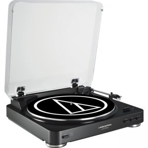 Audio-Technica Fully Automatic Belt-Drive Stereo Turntable (USB & Analog) AT-LP60BK-USB