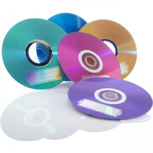 Verbatim CD-R 700MB 52X with Color Branded Surface - 10pk Bulk Box, Assorted 98939