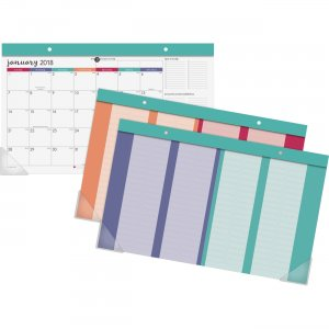 At-A-Glance Harmony Colorful Desk Calendar Pad D6099705 AAGD6099705