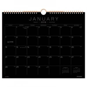 At-A-Glance Black Paper Wall Calendar PM8BP28 AAGPM8BP28