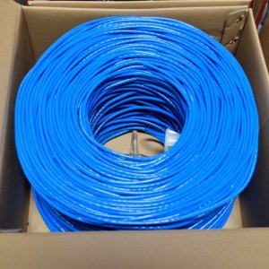 Premiertek Cat5e Bulk Cable 1000ft (Blue) CAT5E-1KFT-BL