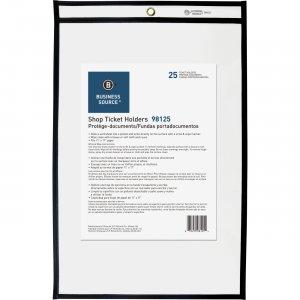 Business Source Clear Heavyweight Shop Ticket Holder 98125 BSN98125