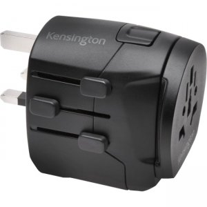 Kensington International Travel Adapter - Grounded (3-Prong) with Dual USB Ports K38238WW