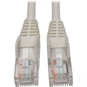 Tripp Lite Cat5e 350 MHz Snagless Molded UTP Patch Cable (RJ45 M/M), White, 15 ft N001-015-WH
