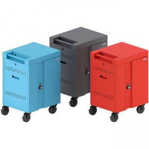 Bretford CUBE Cart Mini Charging Cart AC for 20 Devices, Sky Paint TVCM20PAC-SKY