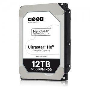 HGST Ultrastar He12 12TB HDD SATA 4Kn ISE w/ Drive Carrier 1EX0363