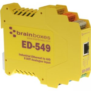 Brainboxes Ethernet to Analogue I/O X20 Multipack ED-549-X20M ED-549