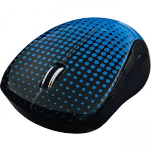 Verbatim Wireless Notebook Multi-Trac Blue LED Mouse - Dot Pattern Blue 99747