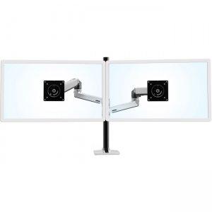 Ergotron LX Dual Stacking Arm Tall Pole (Polished Aluminum) 45-549-026