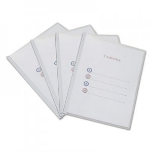 Genpak Clear View Report Cover with Slide-on Binder Bar, 20 Sheets, White UNV20564