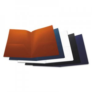 Genpak Two-Pocket Plastic Folders, 11 x 8 1/2, Assorted, 10/Pack UNV20545