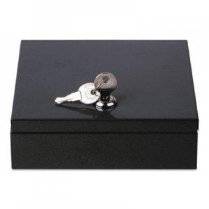"Genpak Space-Saving Steel Security Box, 6 3/4"" x 6 7/8"" x 2"", Black UNV69000"