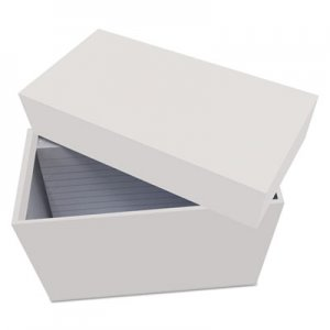 "Genpak Index Card Box with 100 Ruled Index Cards, 4"" x 6"", Gray UNV47281"