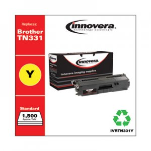 Innovera Remanufactured TN331Y Toner, 1500 Page-Yield, Yellow IVRTN331Y