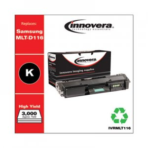 Innovera Remanufactured Black Toner, Replacement for Samsung MLT-D116L, 3,000 Page-Yield IVRMLT116