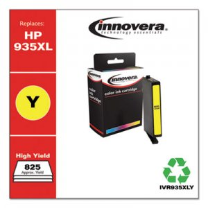 Innovera Remanufactured C2P26AN (935XL) High-Yield Ink, 825 Page-Yield, Yellow IVR935XLY