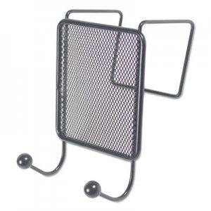 Genpak Wire Mesh Partition Coat Hook, 4 1/8 x 6, Black UNV20017