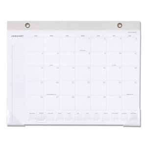 At-A-Glance Signature Collection Desk Pad, 22 x 17, White, 2019 AAGYP70412 YP70412