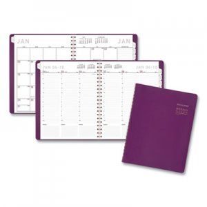 At-A-Glance Contemporary Weekly Monthly Appointment Book, 10 7/8 x 8 1/4, Purple, 2020 AAG70940X59 70940X59