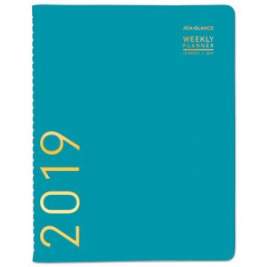 At-A-Glance Contemporary Weekly Monthly Appointment Book, 8 1/4 x 10 7/8, Teal, 2019 AAG70940X42 70940X42