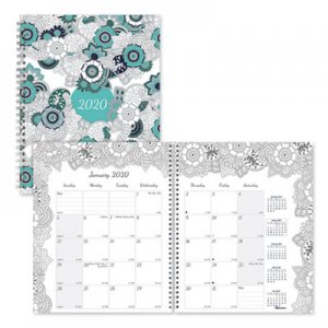 Blueline Doodleplan Monthly Planner, 8 7/8 x 7 1/8, Coloring Pages, 2020 REDC292001 C2920.01