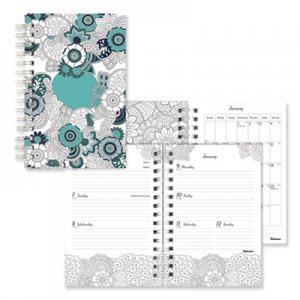 Blueline Doodleplan Weekly/Monthly Planner, 8 x 5, Botanica, 2019 REDC291001 C2910.01