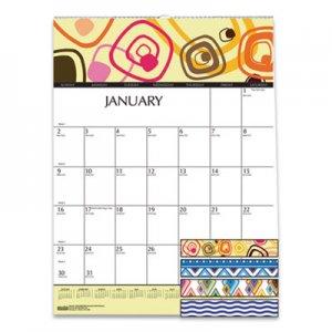 House of Doolittle 100% Recycled Geometric Wall Calendar, 12 x 16 1/2, 2019 HOD3492 3492