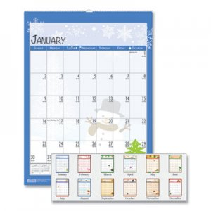 House of Doolittle 100% Recycled Seasonal Wall Calendar, 12 x 16.5, 2021 HOD339 339