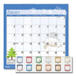 House of Doolittle 100% Recycled Seasonal Wall Calendar, 12 x 12, 2020 HOD338 338