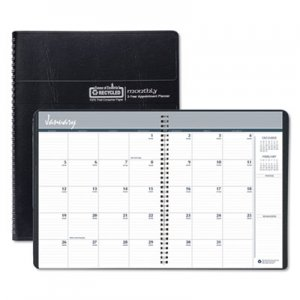 House of Doolittle 100% Recycled Two Year Monthly Planner w/Expense Logs, 6 7/8 x 8 3/4, 2019