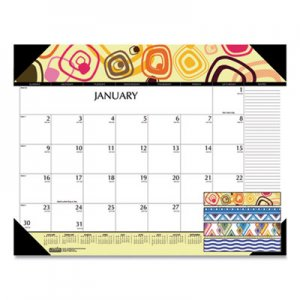 House of Doolittle 100% Recycled Geometric Desk Pad Calendar, 22 x 17, 2020 HOD149 149