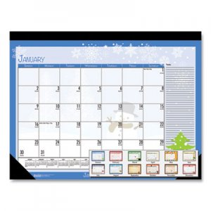 House of Doolittle Earthscapes Seasonal Desk Pad Calendar, 22 x 17, Illustrated Holiday, 2020 HOD139 139