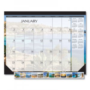 House of Doolittle 100% Recycled Earthscapes Seascapes Desk Pad Calendar, 22 x 17, 2020 HOD138 138
