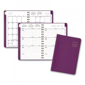 At-A-Glance Contemporary Weekly/Monthly Planner, 4 7/8 x 8, Purple, 2019 AAG70108X59 70108X59