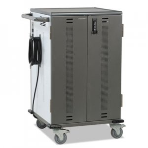"Ergotron YES Basic Charging Cart, TAA Compliant, 48.5"" x 33.5"" x 27.75"", Gray/White ERGYESMOR2GMPW4 YESMOR2GMPW4"