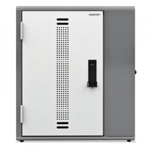 Ergotron YES20 Charging Cabinet for Laptops, 28 x 17 x 27, Gray; White ERGYESCABGMPW YESCABGMPW