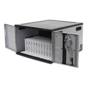 Ergotron Zip12 Desktop Charging Cabinet for 8-12 Devices, 22 x 24.5 x 14, Black/Silver ERGDM1210121 DM12-1012