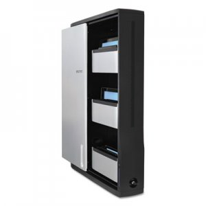 Ergotron Zip12 Charging Wall Cabinet for 12 Devices, 26.4 x 5.9 x 35.6, Black/Silver ERGDM1210061 DM12
