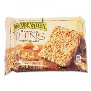 Nature Valley Dark Chocolate Peanut Butter Granola Thins, 0.6 oz, Individually Wrapped, 15/Box AVTSN44066 SN44066