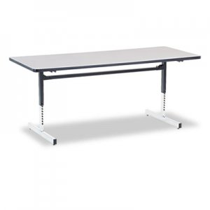 Virco 8700 Series Rectangular Activity Table, 72w x 30d x 30h, Gray Nebula/Chrome VIR873072091