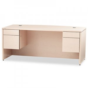 HON 10500 Series Bow Front Desk, 3/4-Height Double Peds, 72 x 36 x 29-1/2, Nat Maple