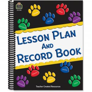 Teacher Created Resources Paw Prints Lesson/Record Book 2551 TCR2551