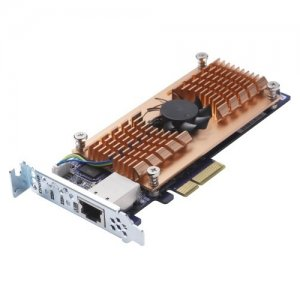 QNAP Dual M.2 2280 SATA SSD & Single-port 10GbE Expansion Card QM2-2S10G1T