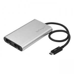 StarTech.com Thunderbolt 3 to Dual DisplayPort Adapter - 4K 60Hz - Mac and Windows Compatible TB32DP2T