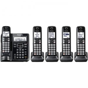 Panasonic Cordless Phone with Answering Machine - 5 Handsets KX-TGF545B