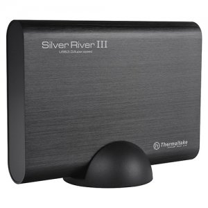 "Thermaltake Silver River III 5G 3.5"" USB3.0 External Hard Drive Enclosure ST-002-E31U3U-A1"