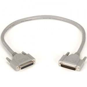 Black Box RS232 DBL Shielded Cable W/ Molded Hood DB25M/F 25 Cond 2Ft EGM25C-0002-MF