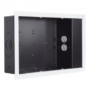 Chief In-wall Storage Box with 2 Receptacle Filter & Surge PAC525FWP2