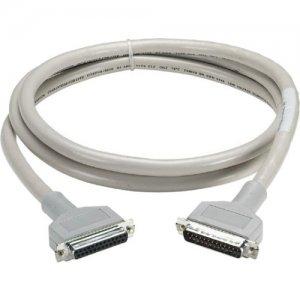 Black Box RS232 DBL Shielded Cable W/ Metal Hood 25 Cond DB25M/F 5Ft EMN25C-0005-MF